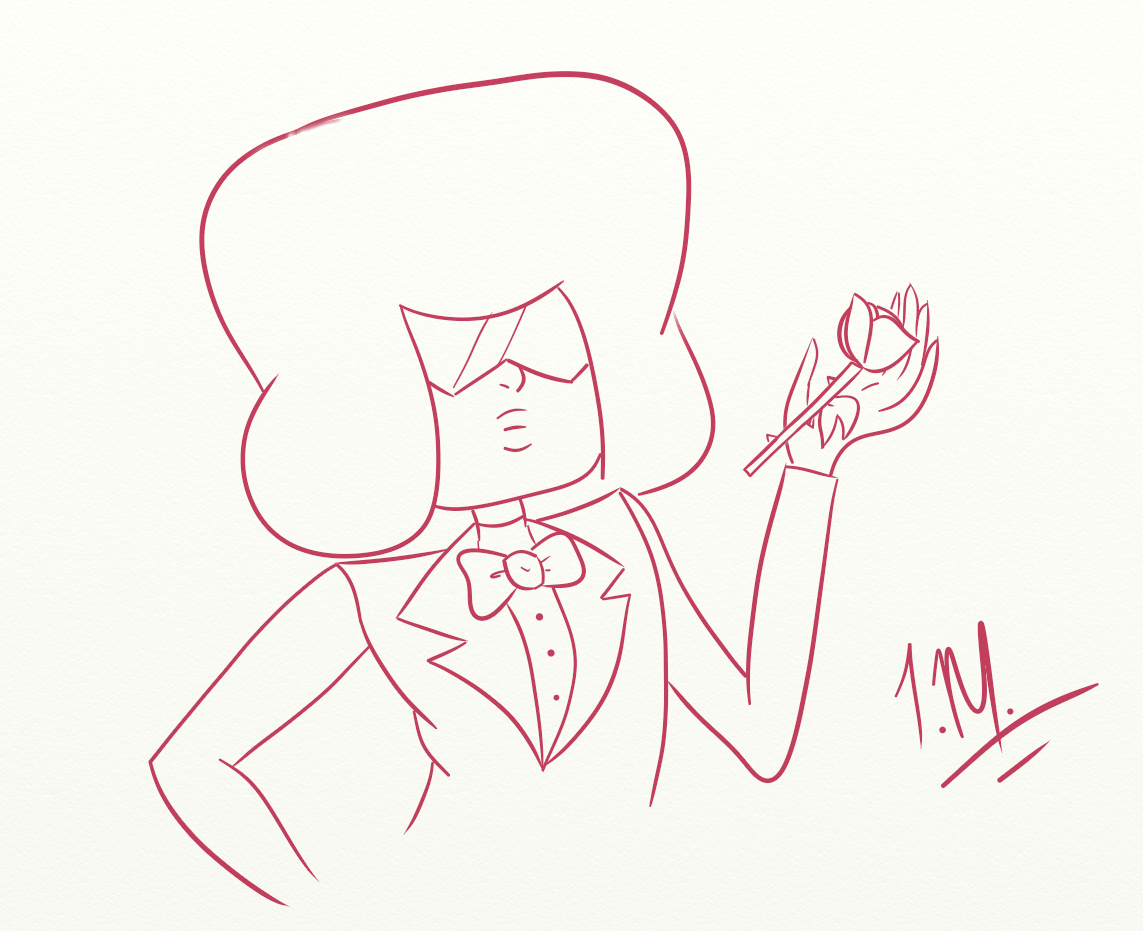 Square Mom in a tux. I am posting a select few of the art prompts I did over on my main blog. Basically the ones I think turned out the best.