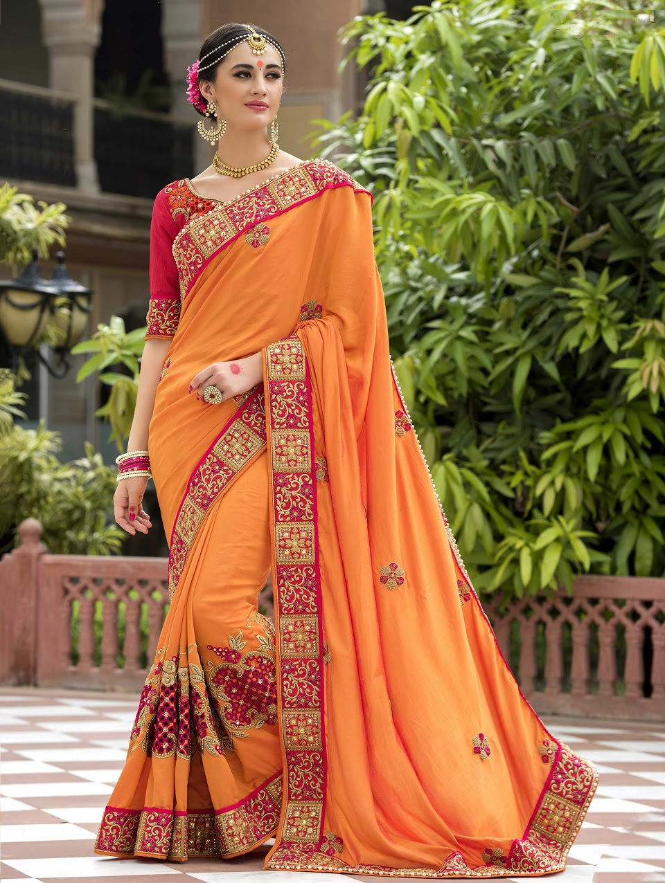 Indian Wedding Saree Latest Designs Trends Collection 2017 2018 16