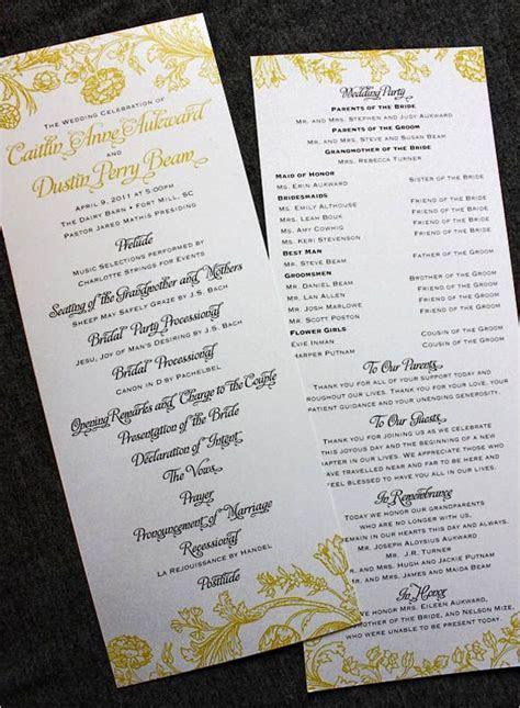 Wedding Programs Wording on Pinterest   Wedding Program