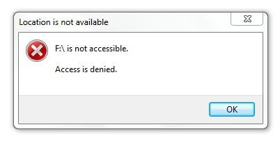 Hard Drive Error - {Partition is not Accessible, Access Denied}