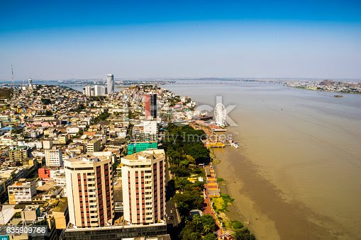 Guayaquil City View From Above stock photo 635909766