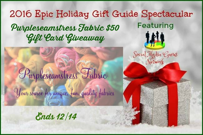 Purpleseamstress Fabric Store $50 Giveaway. Ends 12/14