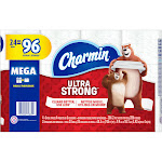 Charmin Ultra Strong Toilet Paper 24 Mega Roll = 96 Regular Rolls