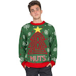 Men's Nuts Snowflakes Christmas Tree Ugly Christmas Sweater