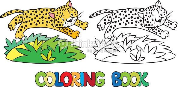 Libro Para Colorear De Poco Cheetah O Jaguar Arte Vectorial Thinkstock
