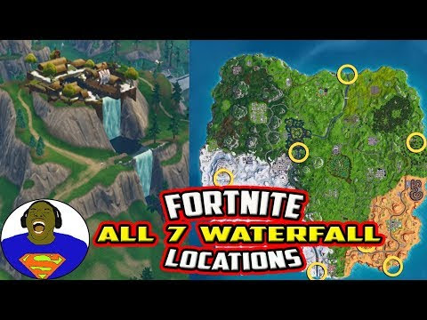 Fortnite Waterfall Locations Stamp Tube - fortnite visit different waterfalls all 7 waterfall locations fortnite overtime challenges