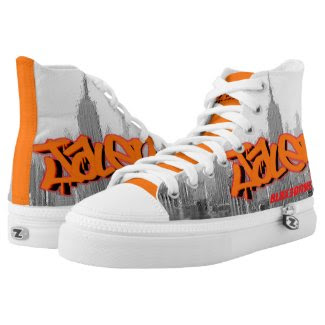 Blox3dnyc.com Empire state design for Jalen R Printed Shoes