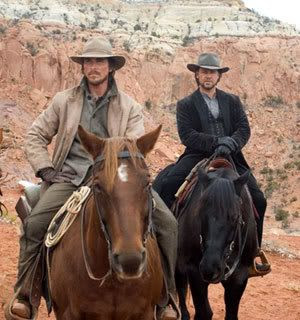Christian Bale and Russell Crowe in 3:10 TO YUMA.