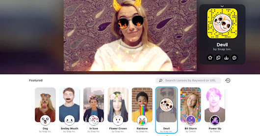 Snapchat brings its camera to the desktop to add filters to your streaming videos