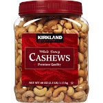 Kirkland Roasted and Salted Cashews, 2.5 lbs.
