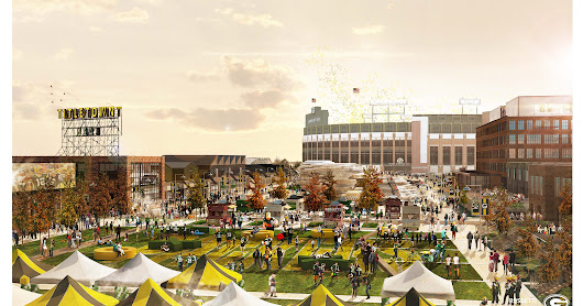 Packers' new Titletown District to have 10-acre plaza