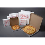 Quality Carton & Converting 7014SP 14 in. Clay Coat Stock Print Pizza Box - Case of 100,