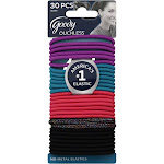Goody Ouchless Ponytails, No-Metal, Elastics - 30 ponytails
