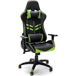 Racing Style Adjustable Gaming Chair with Lumbar Support Green - OFM