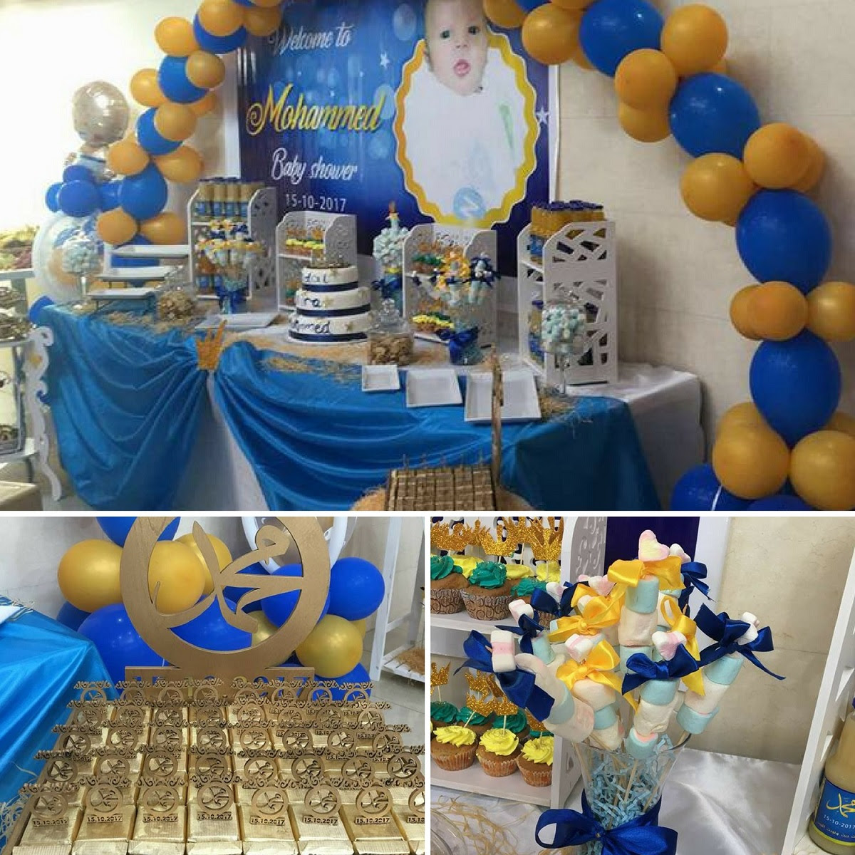 Gold And Navy Royal Prince Baby Shower Baby Shower Ideas Themes