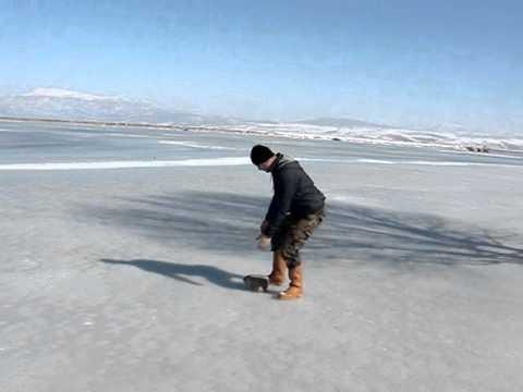 Buz Tutmuş Suğla Gölünde Balık Avı