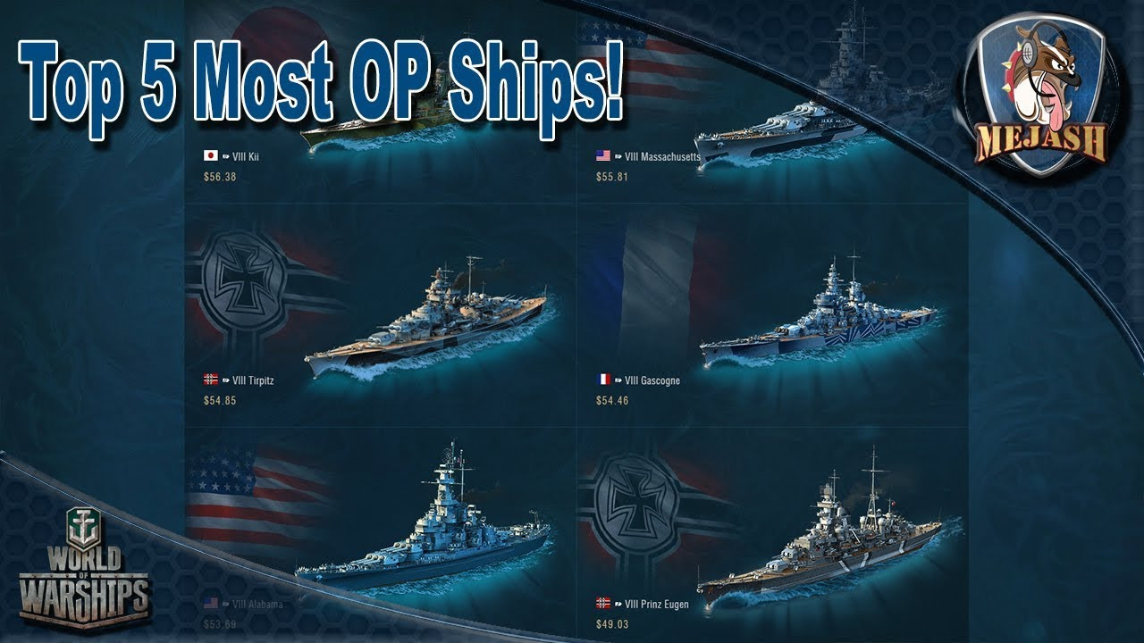 Top 5 Over Powered Premium ships! World of Warships (2018)