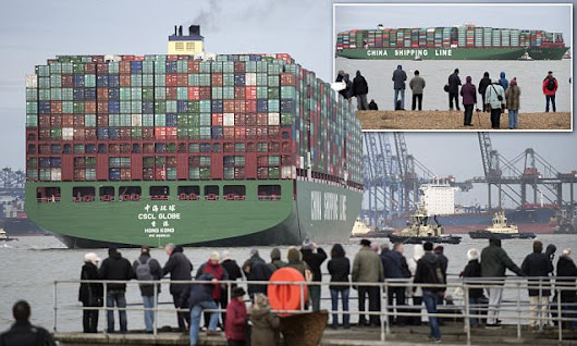 World's largest ship arrives in UK today and its bigger than the Shard