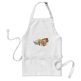 horizontal flowers apron