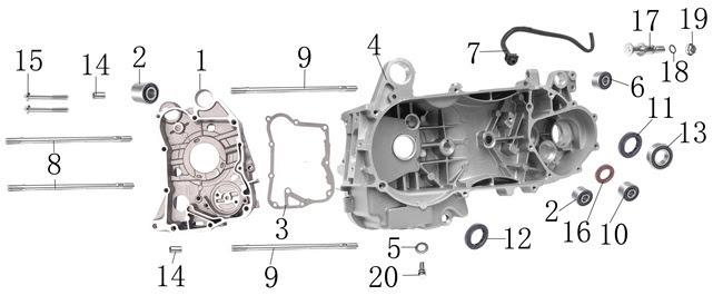 150cc Scooter Engine Diagram