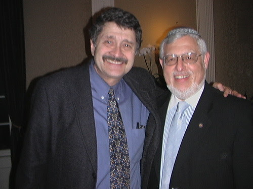 Orthodox Union Rabbi Alan Kaplinsky with Radio Personality Michael Medved - 0005