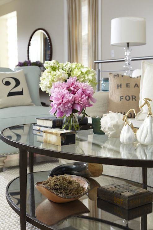 coffee table styling   pillows