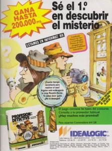 Publicidad Profesión Detective - Idealogic - Commodore 64