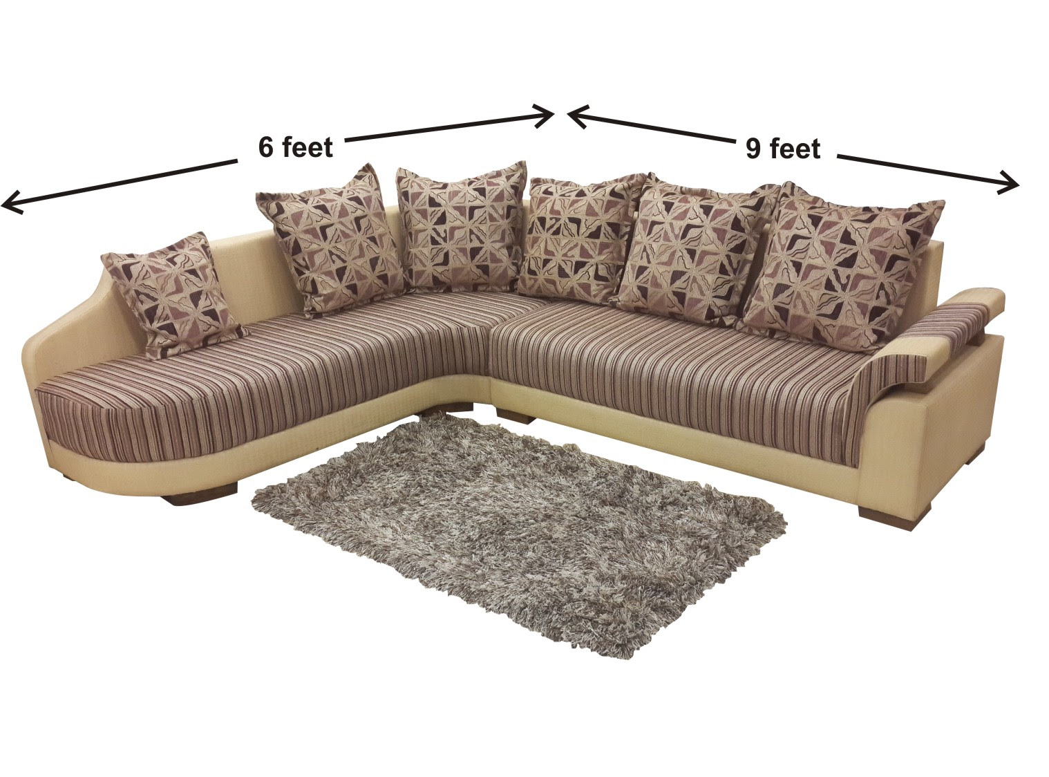 Buy Left Side Langer L Shaped Sofa from OnlineSofaDesign
