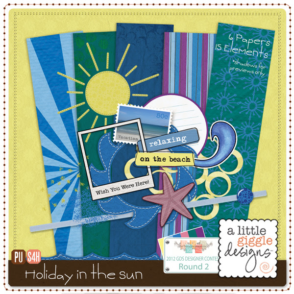 {Holiday in the Sun} Mini Kit Digital Scrapbooking Freebie