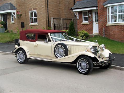 Chauffeur Driven Burgundy Beauford Wedding Car Hire   Book