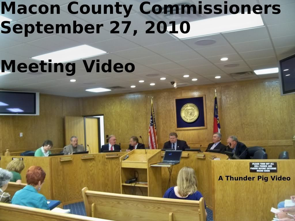 Title Card for the 09-28-2010 meeting of the Macon County Commissioners  Photo by Bobby Coggins