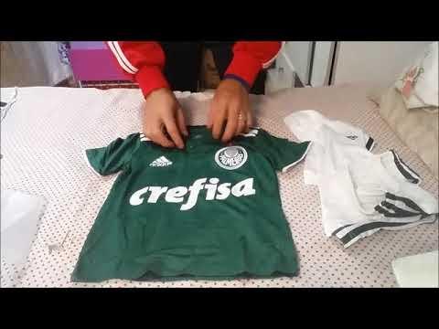 f1a235090e Unboxing do Kit Palmeiras comprado na loja futtudo