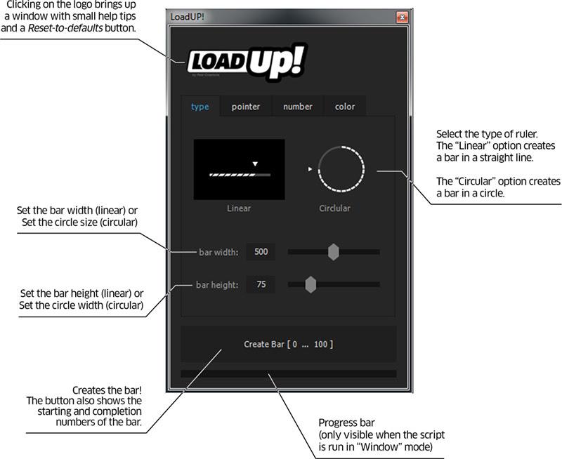 LoadUP - user interface