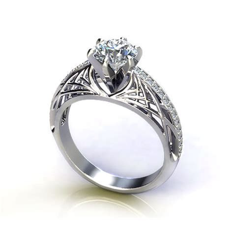Open Weave Engagement Ring   Jewelry Designs