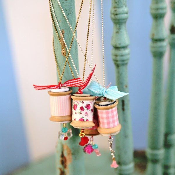 IMG 0830 601x600 14 Days of Love  Sweet Vintage Spool Necklaces