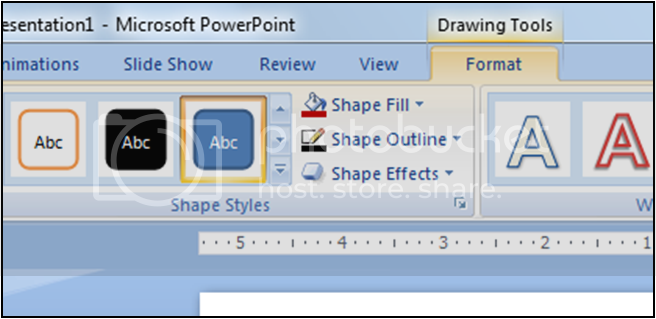 format shapes power point 2007