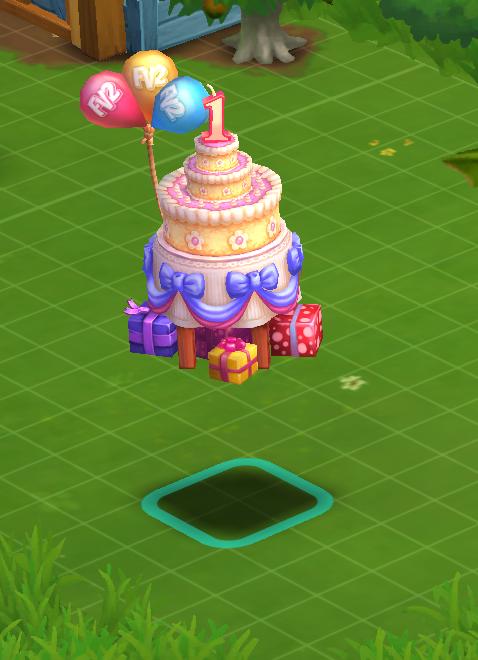 Birthday Cake - FarmVille 2