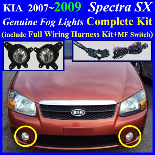 Kia Fog Lights Wiring Diagram : Fog light lamp complete kit wiring harness for