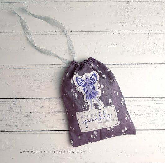 Silhouette UK: Fairy Drawstring Bag - Pretty Little Button