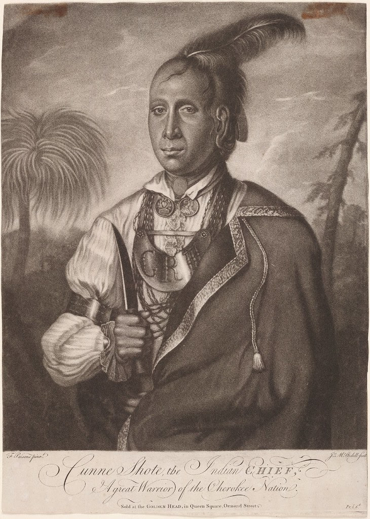 Cunne Shote, the Indian chief, a Great Warrior of the Cherokee Nation