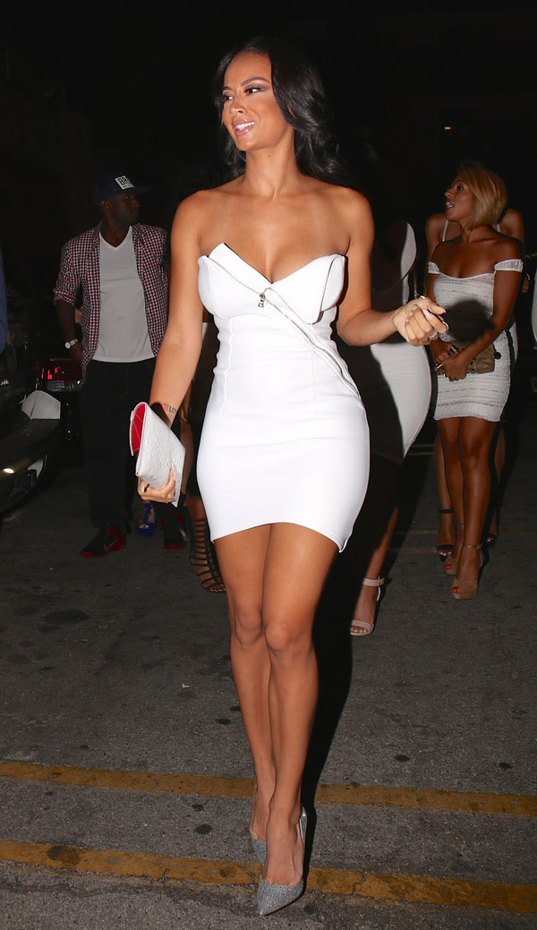 Draya Michele arrives at All White Party which is hosted by her in Hollywood