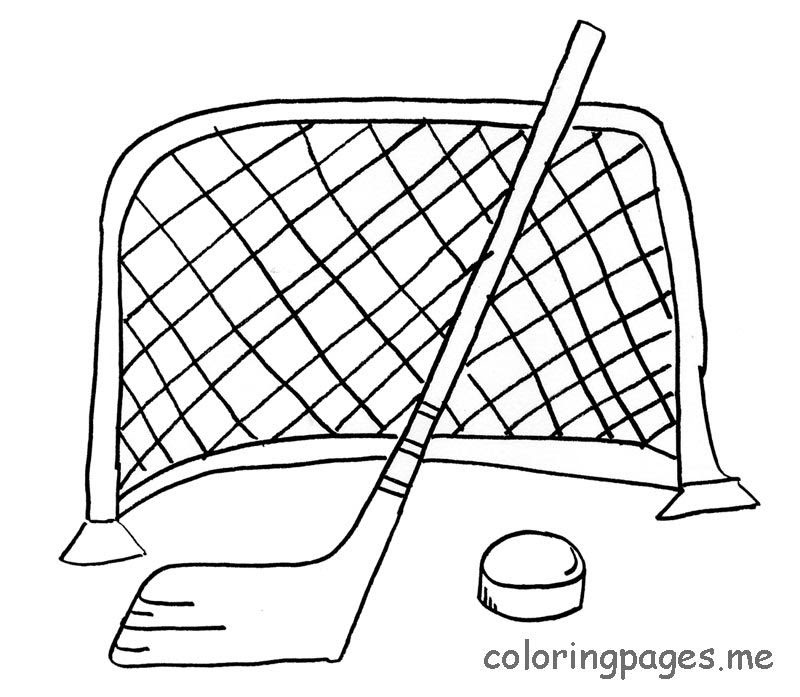 hockey sticks coloring pages