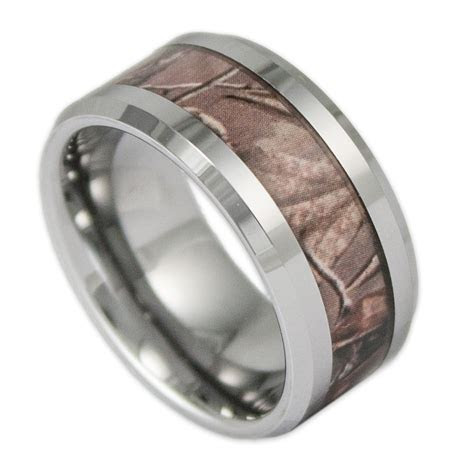 mm wide mens tree camo tungsten ring camouflage wedding