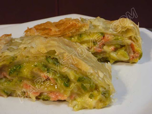 Smoked Salmon and Zucchini Puff Pastry Roll - Recipe