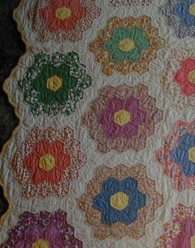 English Antiques Vintage Antique Quilt Handmade Quilt