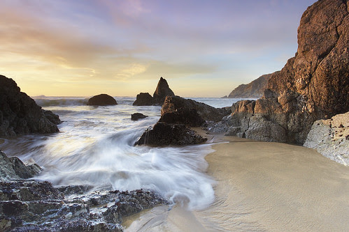 Grey Whale Cove Surf - San Mateo County, California by PatrickSmithPhotography