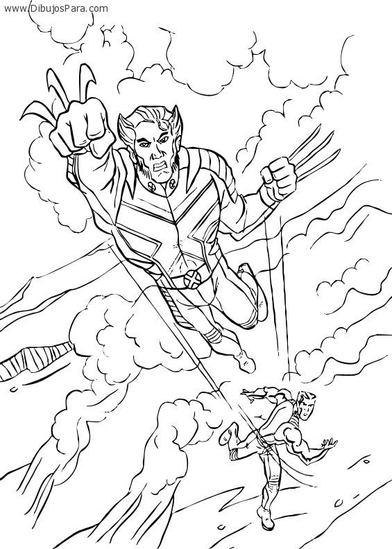 Dibujo De Wolverine Luchando Dibujos Para Colorear