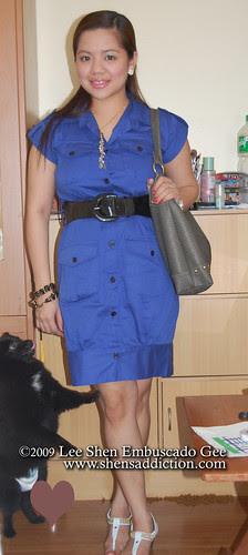 pink manila button down blue dress by you.