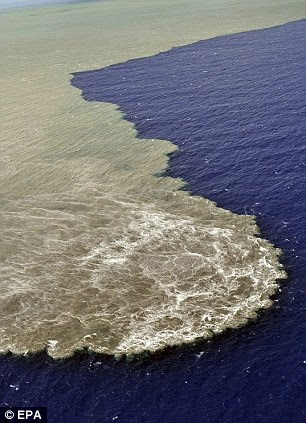 A close-up taken from a helicopter of the magma