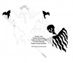 Ghosts Silhouette Yard Art Woodworking Pattern - fee plans from WoodworkersWorkshop® Online Store - ghosts,Halloween,skeletons,spooky,scary,yard art,painting wood crafts,scrollsawing patterns,drawings,plywood,plywoodworking plans,woodworkers projects,workshop blueprints